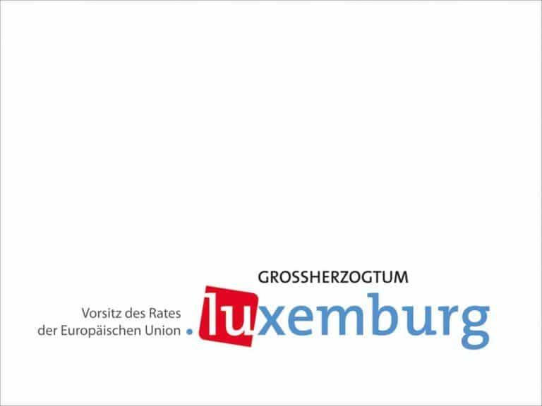 EU-Ratspräsidentschaft Luxemburg