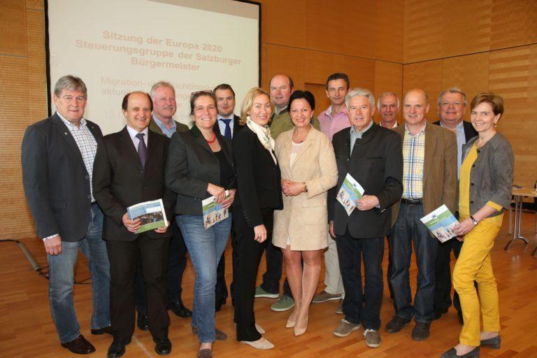 15. Sitzung der Europa 2020 Steuerungsgruppe der Salzburger Bürgermeister am 13. April 2016