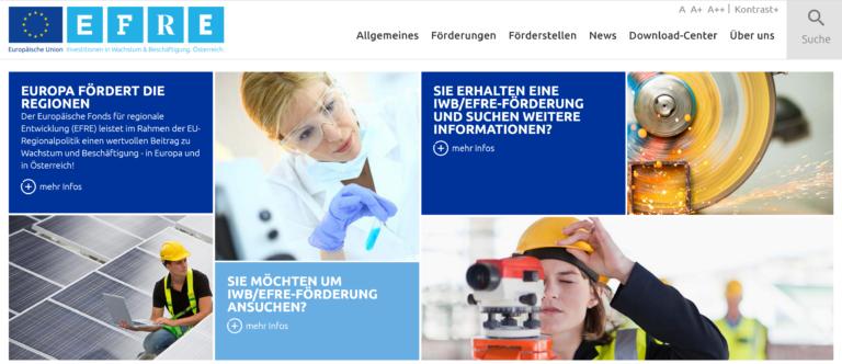 IWB/EFRE stellt Info Video online zu EU Förderungen in Österreich