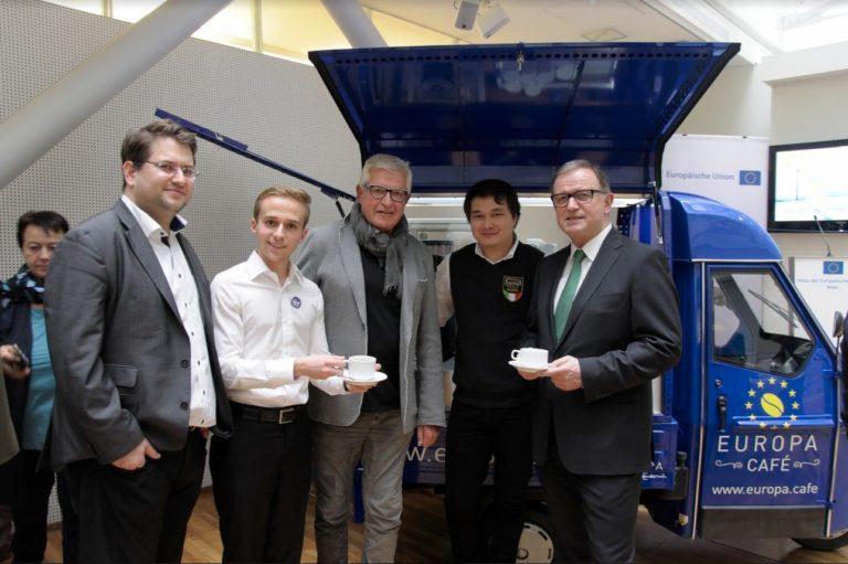 Präsentation des Europa*Café Mobils am 13. Jänner 2017