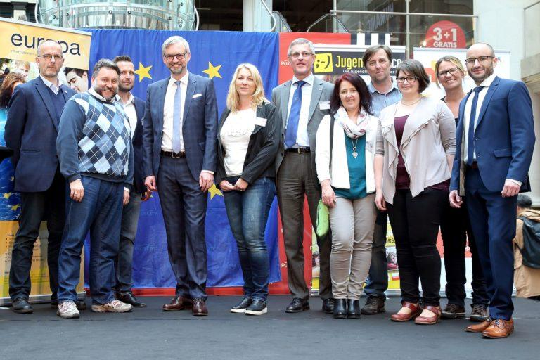 Europatag am 9. Mai 2017 in der Plus City in Pasching
