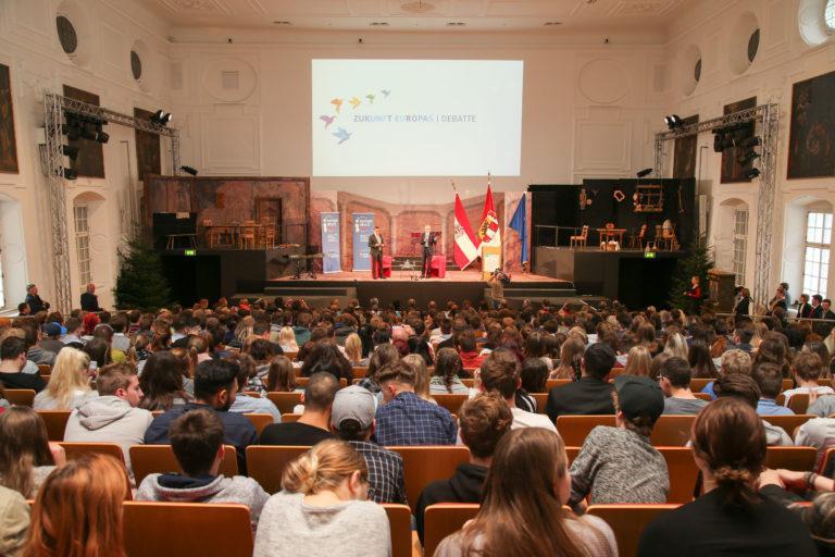 EU-Zukunftsdiskussion mit Herrn Bundespräsident Van der Bellen und 600 Schülern in Salzburg 30.11.17