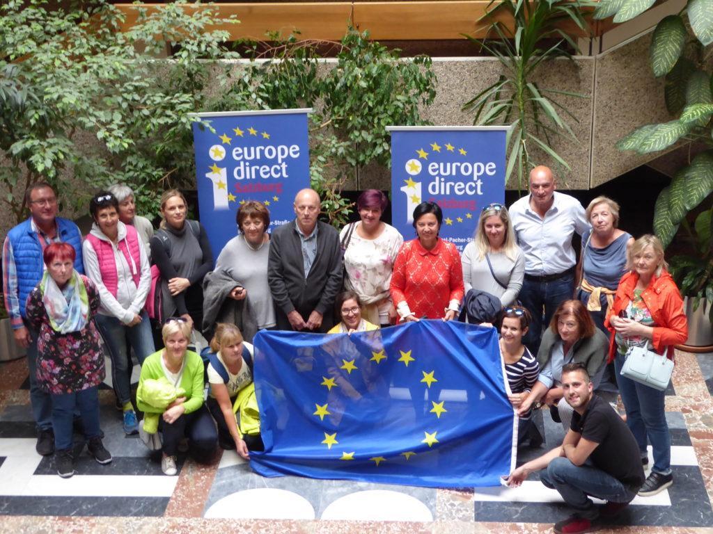 Besuchergruppe von EDIC Gorenjska Slowenien