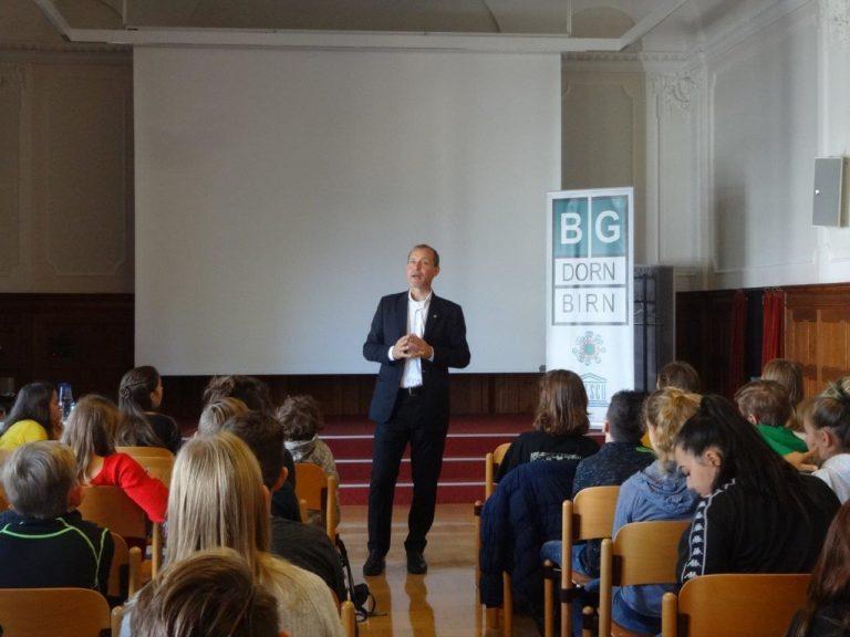 Schulbesuche von Jörg Wojahn am BG Dornbirn und Poly Dornbirn