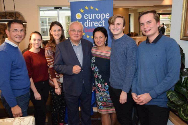 Europacafé mit EK-Sonderbeauftragten Franz Schausberger Neumarkt a.W. 5.11.18