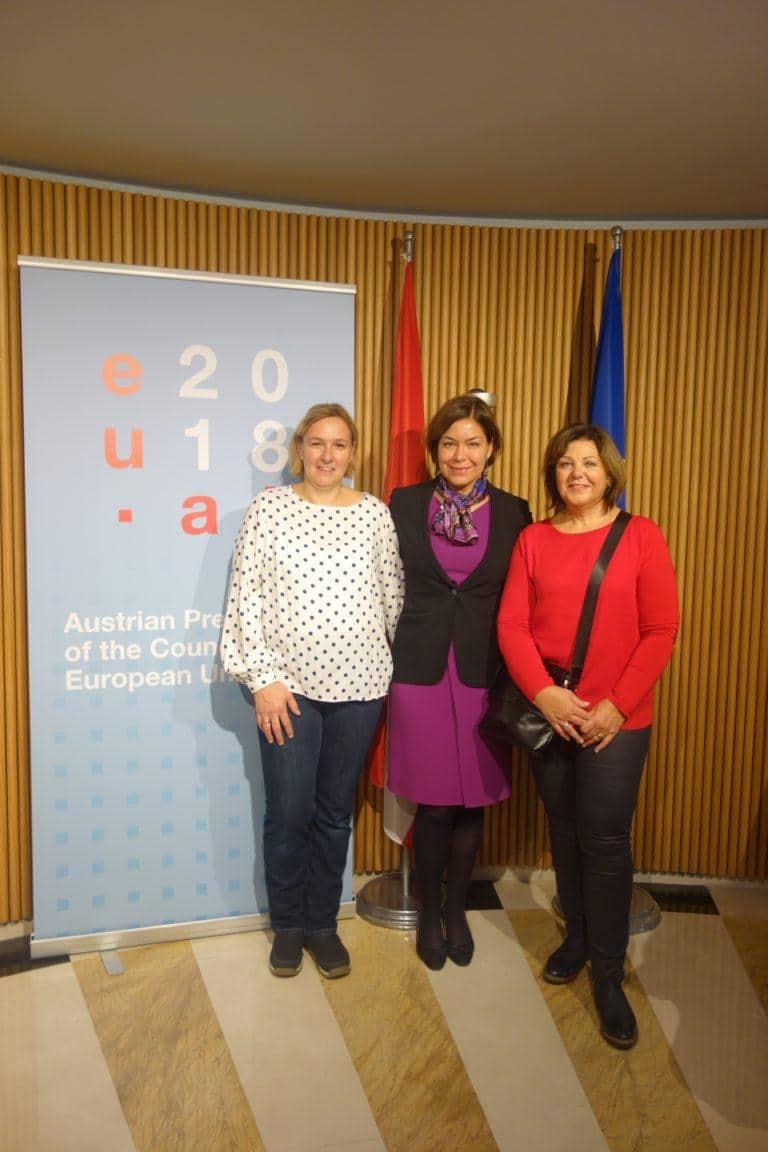 Gewinnerinnen des EU-Quiz besuchen Brüssel