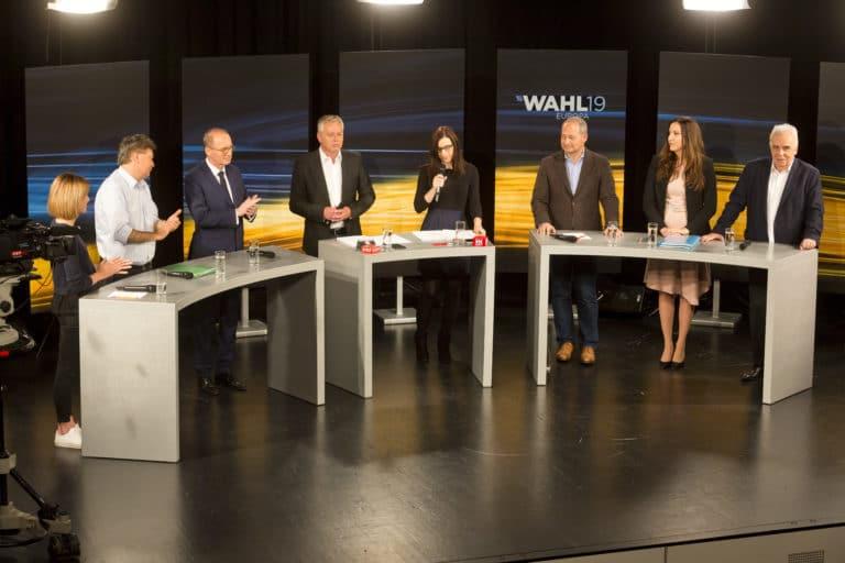 Podiumsdiskussion der EP-Spitzenkandidaten in Rankweil