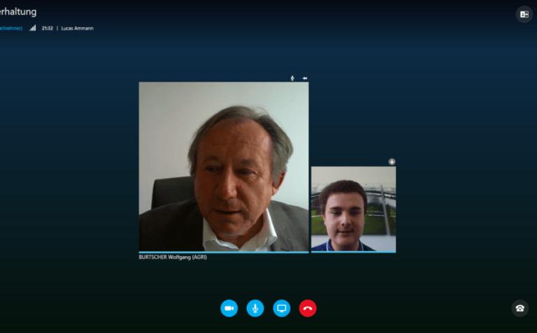 Skype-Interview von Wolfgang Burtscher mit Lucas Ammann