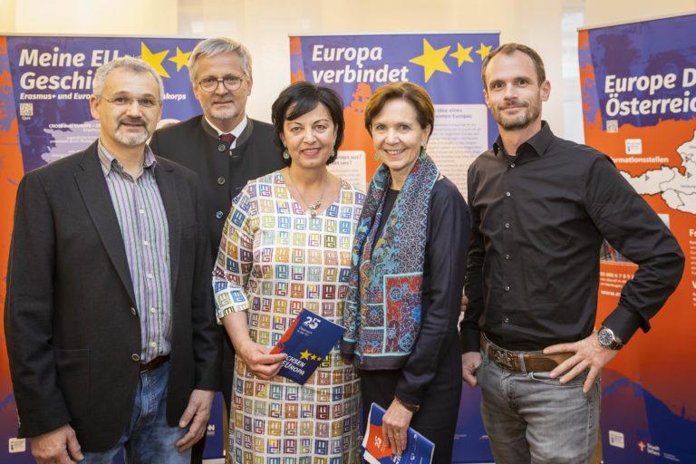 """25 EU-Jahre gehen in Salzburg auf Wanderschaft – Auftakt zur Wanderausstellung """"25 Jahre Ö in der EU"""" mit Landtagspräsidentin Brigitta Pallauf im Chiemseehof"""