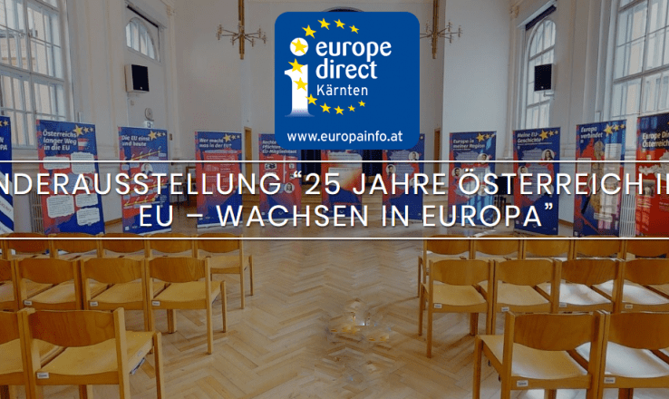"""Die EU-Ausstellung """"25 Jahre Österreich in der EU - Wachsen in Europa"""" wird gezeigt."""