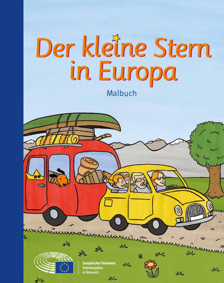 Der kleine Stern in Europa – Malbuch