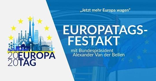 Europatags-Festakt mit Bundespräsident Alexander Van der Bellen am 7. Mai 2020
