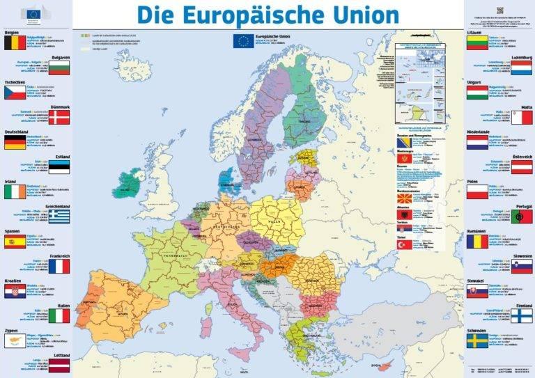 Read more about the article Die Europäische Union – Landkarte