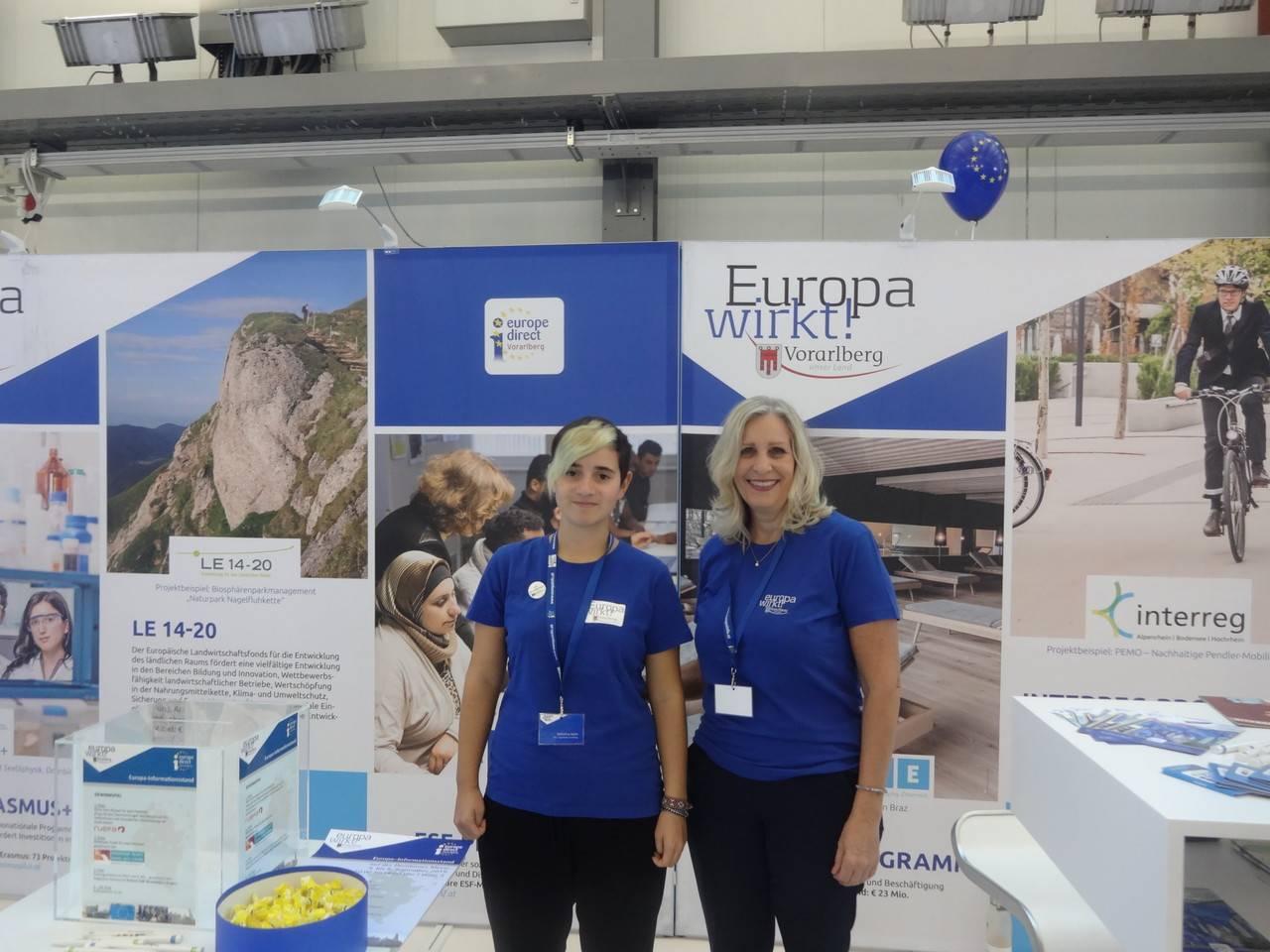 Europa-Informationsstand von EDIC Vorarlberg bei der Dornbirner Herbstmesse