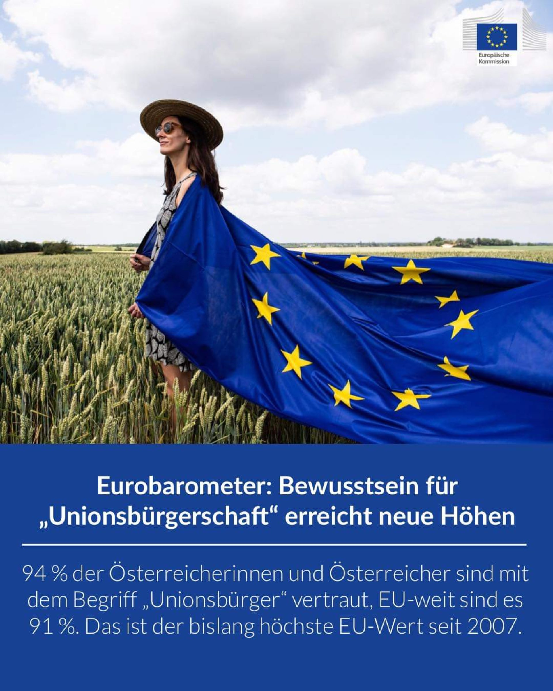 """Eurobarometer: Bewusstsein für """"Unionsbürgerschaft"""" erreicht neue Höhen"""