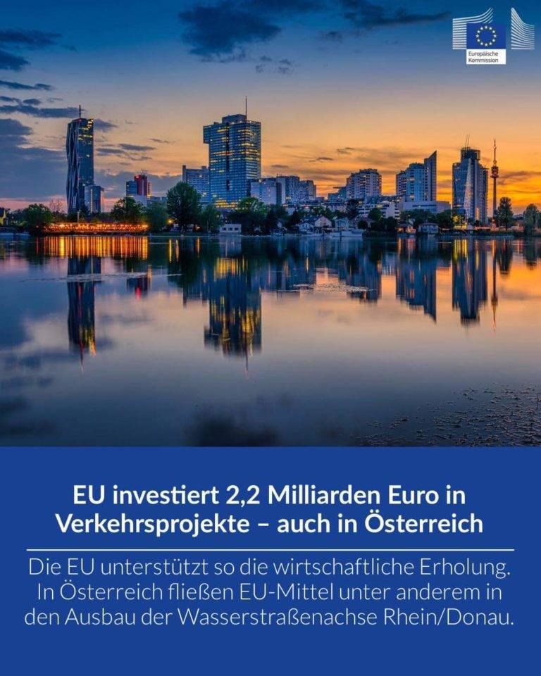 EU investiert 2,2 Milliarden Euro in Verkehrsprojekte – auch in Österreich