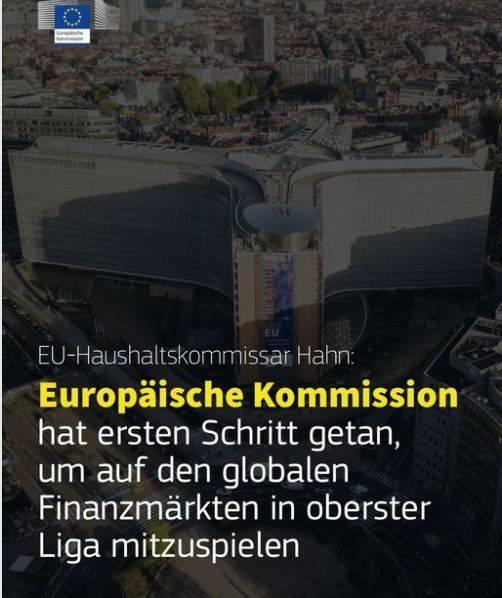 Europäische Kommission hat ersten Schritt getan, um auf den globalen Finanzmärkten in oberster Liga mitzuspielen