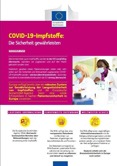 COVID-19-Impstoffe: Die Sicherheit gewährleisten