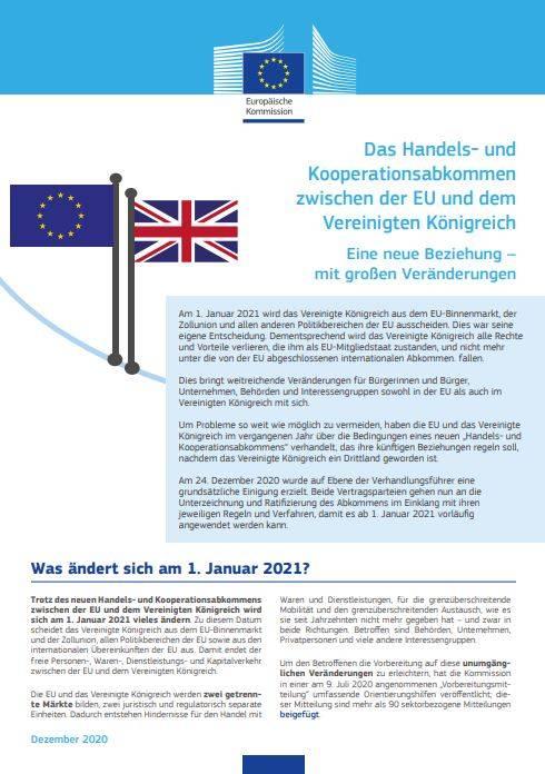 Handel- und Kooperationsabkommen