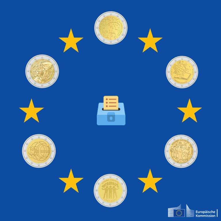Wählen Sie Ihre Lieblings-Erasmus-Münze